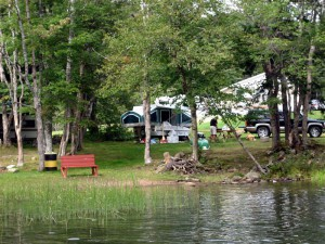 camping area in campground in Cape Breton